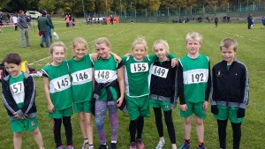 X-country team after race at St Davids at LLandudno
